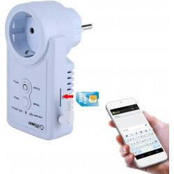 Prise GSM avec prise de courant Commutateur de prise de courant avec capteur de température Commande SMS
