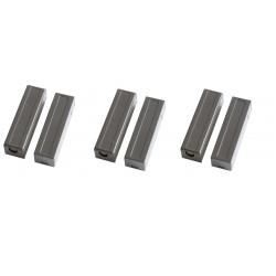 Lot de 3 capteurs detecteur ouverture magnetique contacteur alarme contact nf saillie marron