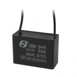 2 CBB61 Condensador Metalizado para Motor de Arranque Ventilador de Techo 500VAC 6uF 6mf