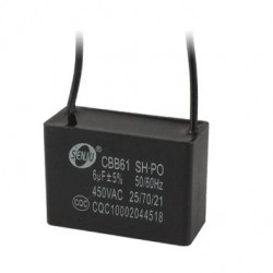 2 Condensatore metallizzato CBB61 250v per ventilatore a soffitto a motore 500VAC 6uF 6mf