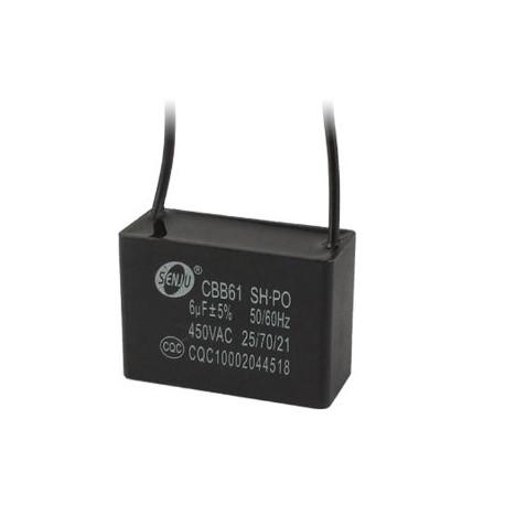 2 CBB61 250v Metallisierte Kondensator für Motor Start-up Deckenventilator 500VAC 6uF 6mf