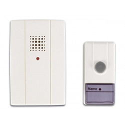 Portable wireless doorbell 60m 433.92mhz 16 different tonalities edb velleman perel