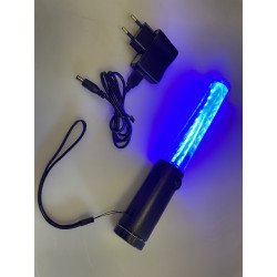 Baton lumineux led rouge + batterie rechargeable + chargeur 220v 5v support magnetique