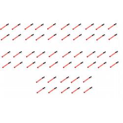 Lot de 50 batons lumineux signalisation police rouge route circulation voiture automobile