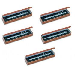 5 Laser kugelschreiber rot elektronische stechuhr holzgehause als geschenk 143.1651 strahl