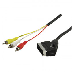 Cable scart cable connection hqb 024 1.5 konig switched to 3 rca