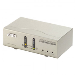 Aten 2 2 port video+audio matrix switch