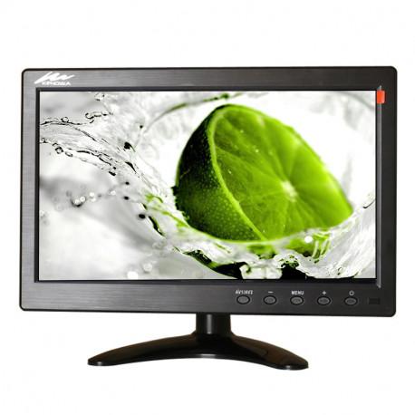 """Monitor LCD da 10,1 """"Mini TV e schermo del computer Schermo a colori 2 canali Monitor di sicurezza"""