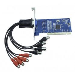 PCI Card 4 Channel Capture Card Surveillance Video Compatible 960H DH D1 Phone Remote