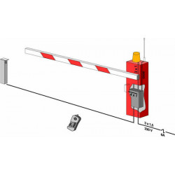 Automatic barrier gate, 4m 8s 250 blocking cycles rising barrier parking barrier gate automatic gate system barrier gate automat
