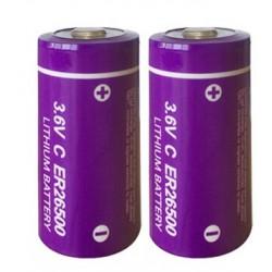 2 x ER26500 lithium battery 3.6V 9000mAh c lisoci2 9000mAh 9ah 26500 ls26500 r14 lsa8500 sl770 lsh14 ls 26500