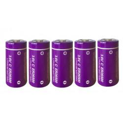 5 x ER26500 lithium battery 3.6V 9000mAh c lisoci2 9000mAh 9ah 26500 ls26500 r14 lsa8500 sl770 lsh14 ls 26500