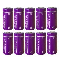 10 x ER26500 lithium battery 3.6V 9000mAh c lisoci2 9000mAh 9ah 26500 ls26500 r14 lsa8500 sl770 lsh14 ls 26500