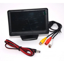 Monitor colour video surveillance monitor 4'' 8cm lcd colour video monitors audio, 12vdc video surveillance monitor colour