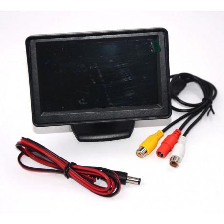 Monitore colore 4'' 8cm audio tft lcd (12vcc) schermi sistemi videosorveglianza