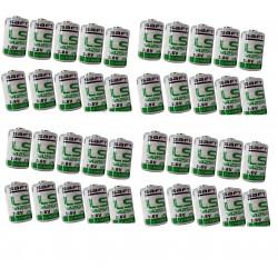 Lot de 40 piles lithium saft 3.6v 1/2aa lr14250 er14250 ls14250 er14250h li-socl2 1200mah