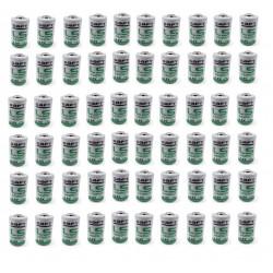 Lot de 60 piles lithium saft 3.6v 1/2aa lr14250 er14250 ls14250 er14250h li-socl2 1200mah