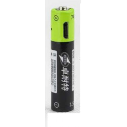 1 batterie rechargeable lithium polymere 400mAh pile 1.5v aaa lr03 Znter micro usb li-polymer