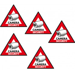 Etiquette dissuasive 5 pcs panneau sticker sec st cs camera securite protection surveillance