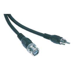 Cable rca plug / plug bnc male 1.50m -461 video cable konig male audio cable