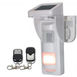 Detecteur volumetrique exterieur etanche avec sirene flash et telecommande 433mhz