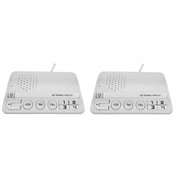 Interphone secteur sans fil main libre 4 voies p159ga intercom 4 canaux communication