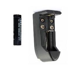 18650 Negro 18650 3.7v batería recargable 6000mAh para la antorcha del faro + charge