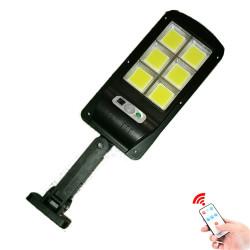Lampe solaire 120COB de rue avec detecteur présence capteur de mouvement étanche