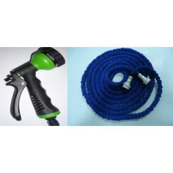 Estensibili tubo di irrigazione tubo x 7.5m + pistola a spruzzo retrattili ritrae xhose giardino casa