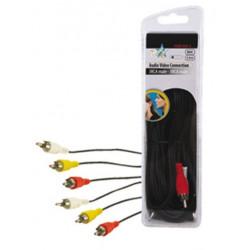 Audio -video-kabel 3 cinch- stecker auf 3 cinch- stecker 5 m hq hqb 004 5 patchkabel konig