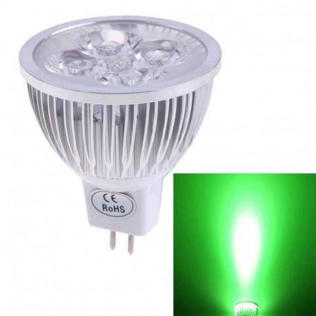 Ampoule mr16 12v led 5w lampe eclairage vert Spotlight a economie d'énergie