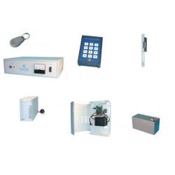 Kit controllo 16 accessi mediante lettore di badge sistema sorveglianza accesso protezione entrata