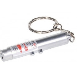 Pack of 500 2in1 red laser pointer w led keychain torch flashlight