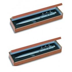 2 Laser kugelschreiber rot elektronische stechuhr holzgehause als geschenk 143.1651 strahl