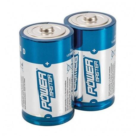 Lotto di 2 pile alcaline 1.5v r20 alimentazione pila batterie D, AM1, LR20, 13A, E95, MN1300, 813, 4020