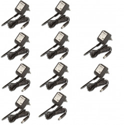 Lot de 10 adaptateurs 110v 220v 12v 1.2a 15w alimentation compatible 0.8a 0.9a 1a 1.1a pss1212