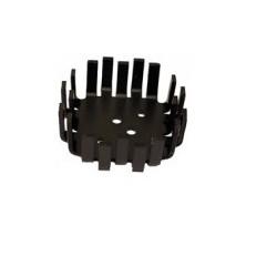 Black aluminum heatsink radiator 1xto3 - dimensions 64 x 64 x 22 mm ref: qura11