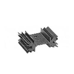 Black aluminum heatsink radiator 1xto220 ml73 vertical height 25mm percé.ref: quraml7325p