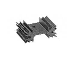 Black aluminum heatsink radiator 1xto220 ml73 vertical height 50mm percé.ref: quraml7350p