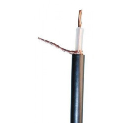 Coaxial cable, 75 ohm, ø6mm, black, 100m low loss coaxial cable tv coaxial cable television coaxial radio frequency (rf) shielde