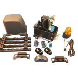 Kit motorizzazione per cancello scorrevole 400kg con ricevitore rb2f aperture automatiche cancello