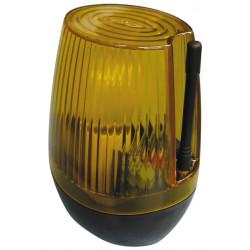 Feu clignotant etanche 220v 15w ambre signalisation lumineuse lumiere automatisme ae/lf 220a jaune