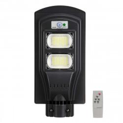 Lampione stradale solare 240w 234led 66600lm rilevatore di presenza sensore di movimento batteria ip65 impermeabile