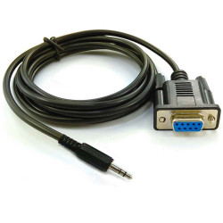 Cable de 1.80m conector de audio 3.5 a cable adaptador RS232 caja registradora db9 db25
