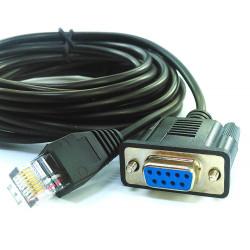 Adaptador de cable de 1.80m rj45 a rs232 cable convertidor 8P8C a caja registradora db9 db25