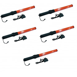 5 Baton lumineux GM torche rechargeable rouge signalisation police route circulation voiture avion