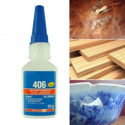 Pegamento instantáneo 20gr cianoacrilato para plástico y caucho Loctite madera papel cuero o tela