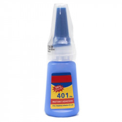 Pegamento instantáneo 401 20gr cianoacrilato transparente para plástico pvc cuero madera cerámica