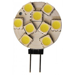 Lampara led 12v g4 9 leds smd blanco frio 25mm casquillo g4 luz bombilla alumbrado bulb lamp