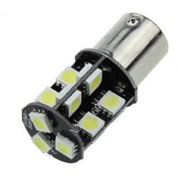 Ampoule ba15s 19 led 12v 3w p21w auto 5050 smd blanc 1156/1157 lumiere gyrophare